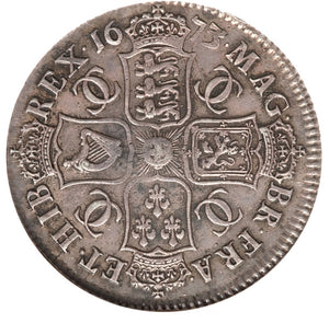 Great Britain: Charles II Halfcrown 1673