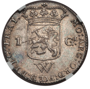 Netherlands West Indies: Dutch Colony. United West India Company Gulden 1794 MS63 NGC