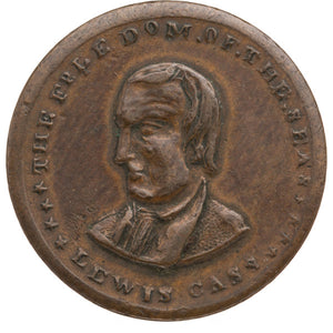Lewis Cass: Prohibitively Rare Campaign Medal with Dual Portraits