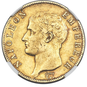 France: Napoleon gold 40 Francs 1806-I AU55 NGC
