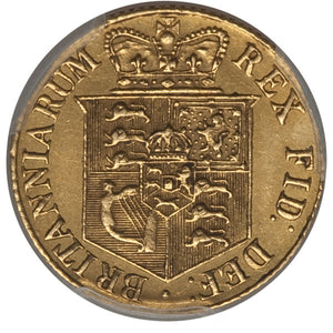 Great Britain: George III gold 1/2 Sovereign 1818 AU53 PCGS