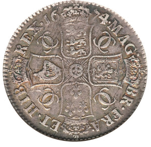 Great Britain: Charles II Halfcrown 1674/3