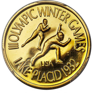 United States: Lake Placid Olympics gold Proof Medal 1978 PR66 Deep Cameo PCGS