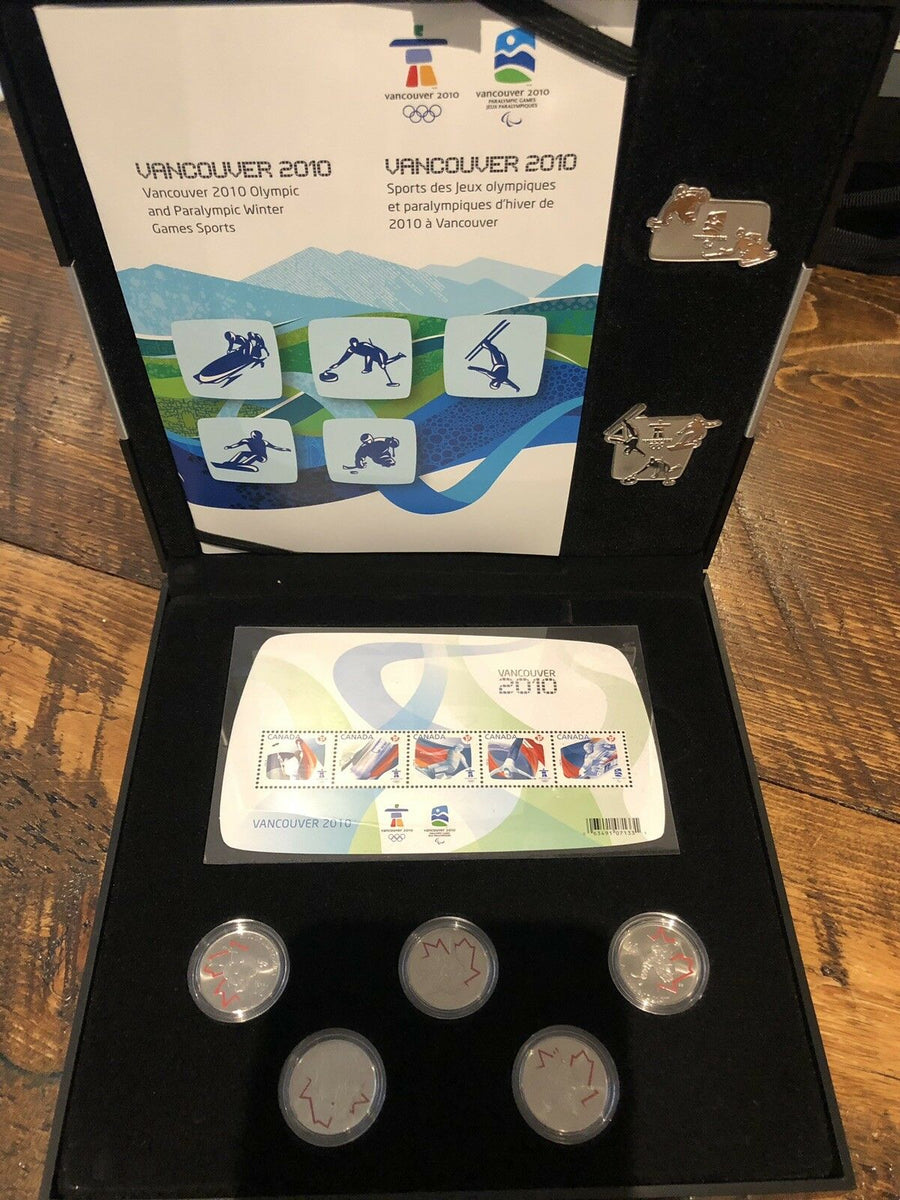 2010 Vancouver Silver Collector's Coin, Stamp and Pins Set