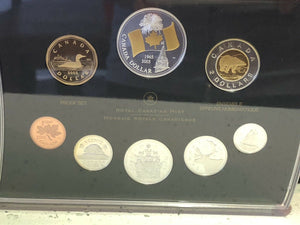 "2005 Proof Set Of Canadian Coinage ""40th Anniversary Canada Flag"" w/ COA"