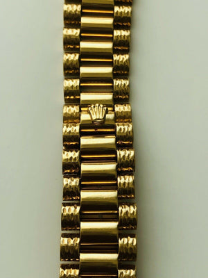 1979 Rolex Oyster Perpetual 18038 18k Solid Gold Watch & Band w/ Diamond Bezel