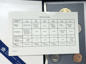 1991 ROYAL CANADIAN MINT SET 6 PIECE COINS IN ORIGINAL COA & BOX