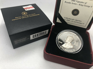 2008 $15 Fine Silver Coin - Vignettes Of Royalty Series - King George V