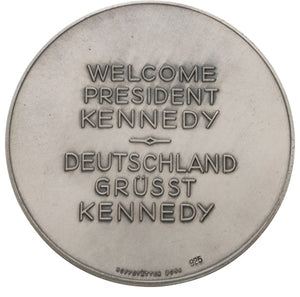 John F. Kennedy: Jugate Kennedy & Adenauer Medal From 1963 Visit to Berlin
