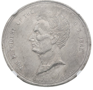 Abraham Lincoln: Large Railsplitter Medal by Childs
