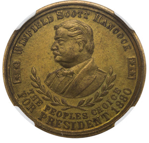 James A. Garfield and Winfield S. Hancock: Rare Muling in Brass