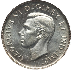 Canada: George VI 25 Cents 1947 MS63 PCGS