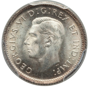 Canada: George VI 10 Cents 1939 MS66 PCGS