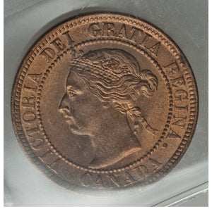 Canada: Victoria Cent 1899 MS66 Red ICCS