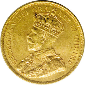 Canada: George V gold 5 Dollars 1914, KM26,