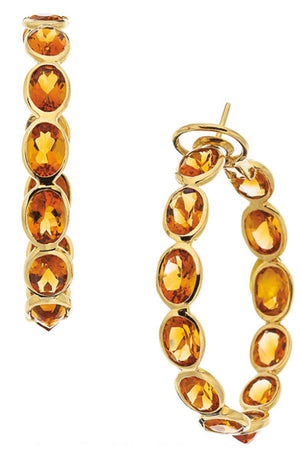 Citrine, Gold Earrings, Piranesi