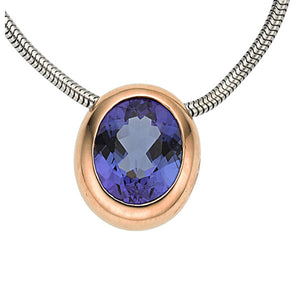 Tanzanite, Gold Necklace