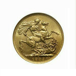Canada: Edward VII gold Sovereign 1909-C, Bust right/St. George slaying dragon with date below, Fr-1, KM-14, MS62 NGC