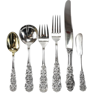 104 PIECE STERLING FLATWARE SERVICE FOR 16