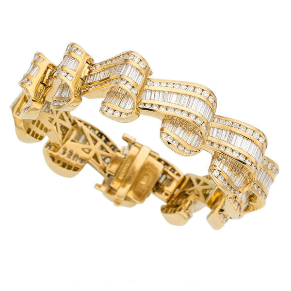 Diamond, Gold Bracelet, Charles Krypell