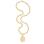 Diamond, Gold Pendant-Necklace