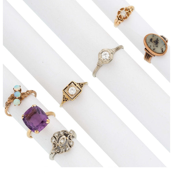 Diamond, Multi-Stone, Gold Rings