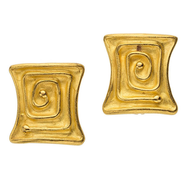 Gold Earrings, Denise Roberge