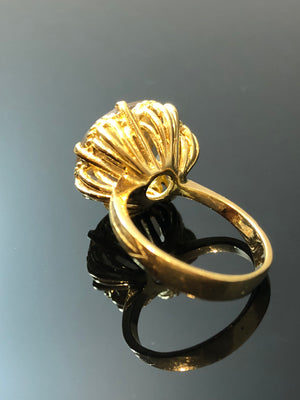 Ladies 18kt Gold Ring, with Natural Smokey Quartz, Size 5.25
