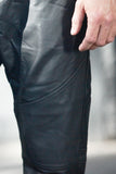 Rogue State Black Faux Leather And Mesh Joggers - Rogue State - Los Angeles