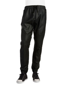 Rogue State Faux Leather And Mesh Joggers - Rogue State - Los Angeles