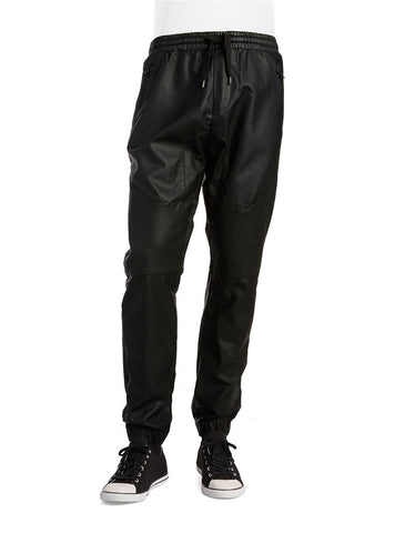 Rogue by Reilly Olmes Faux Leather And Mesh Joggers - Rogue State - Los Angeles