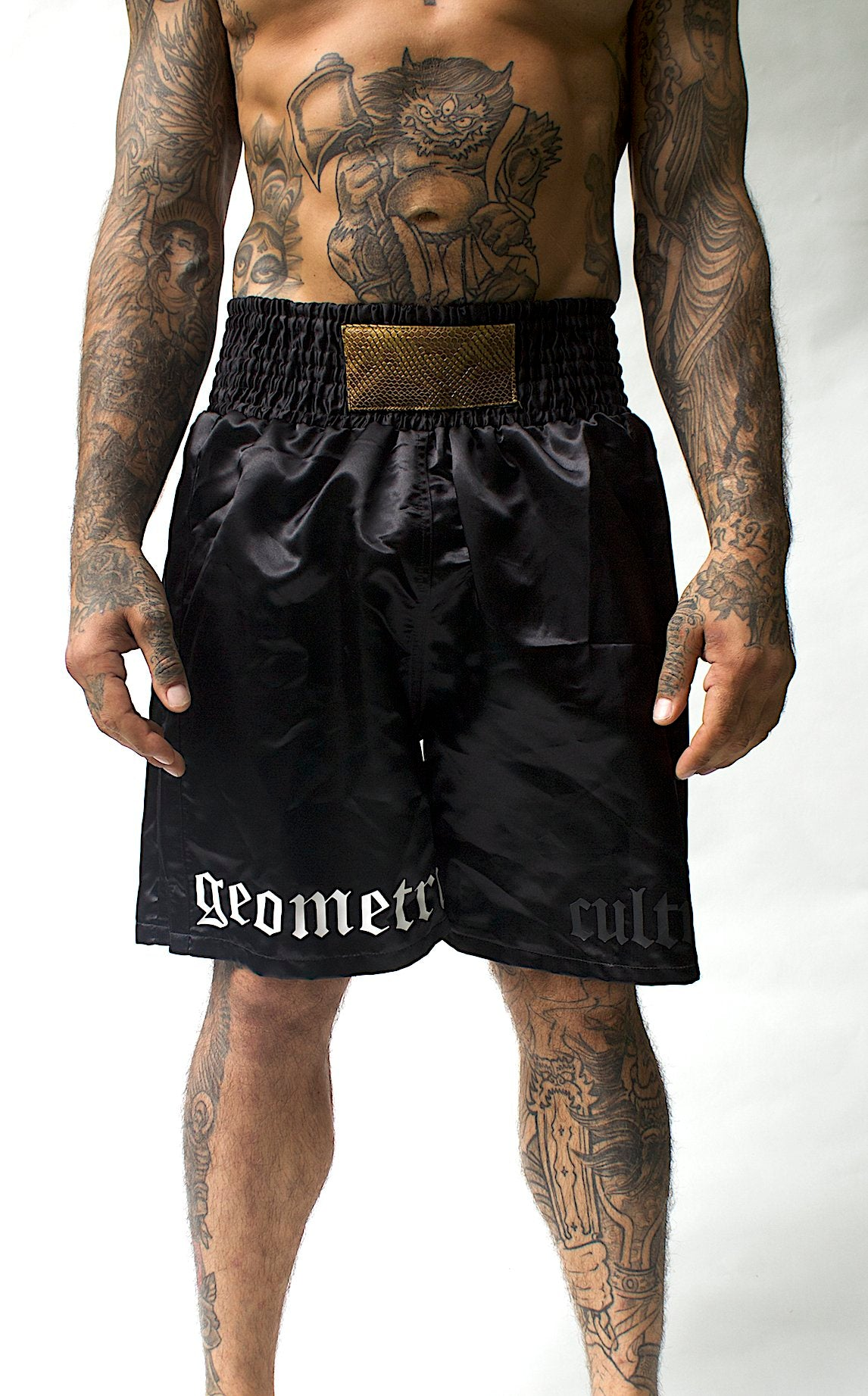 Geometric x cULTRA Satin Boxing Shorts