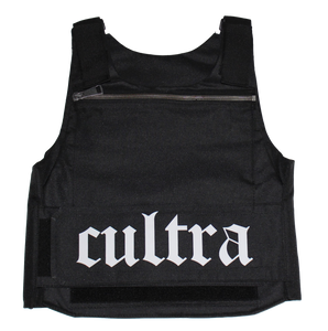 cULTRA Reflective Gunmetal Black Zipper Tactical Vest