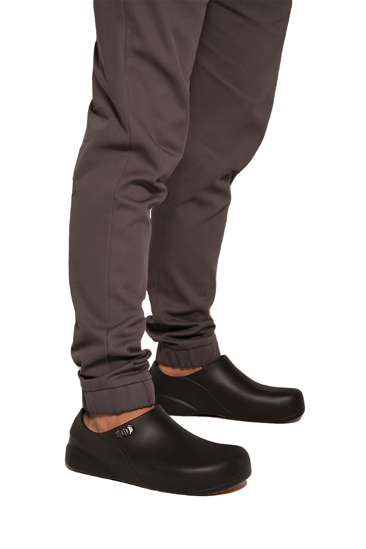 PANTALON SLIM FIT PARA COCINA GRIS OXFORD - Gastro Tour Chef