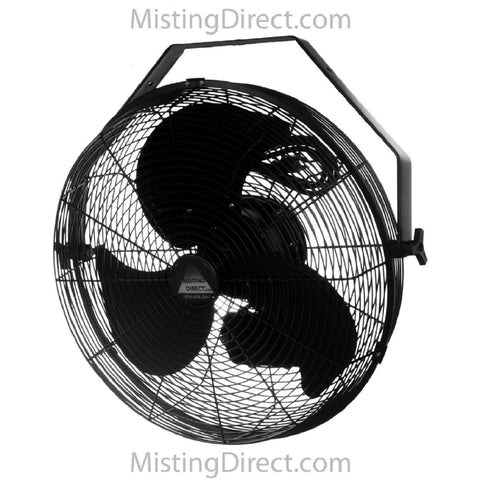 "18"" Misting Fan Mist Ring and Ruby Nozzles. Color:Black"