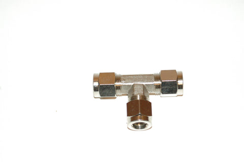 "3/8"" Compression Tee Nickel Plated Brass (C3T)"