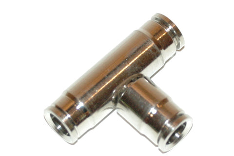 "3/8"" Quick-Connect Tee Nickle Plated Brass (Q3T)"