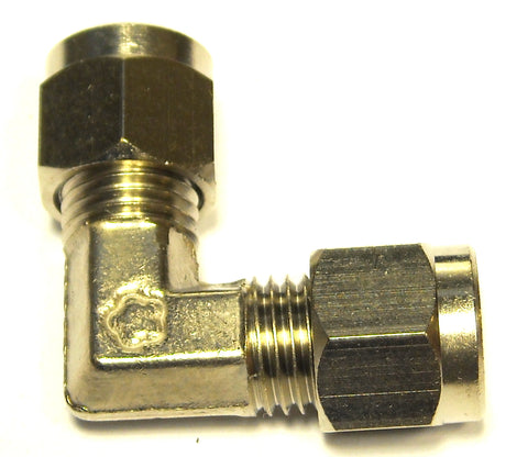 "1/4"" Compression  Elbow  Nickel Plated Brass (C190)"