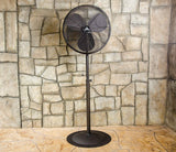 "Indoor/Outdoor 24"" Oscillating Pedestal Fan for Wet Locations (Oil Rubbed Bronze)"