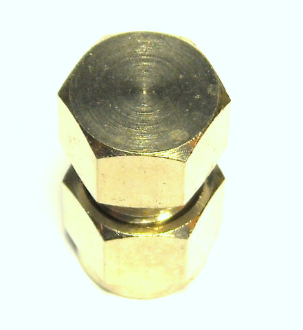 "1/4"" Compression End Cap Nickel Plated Brass (C1END)"