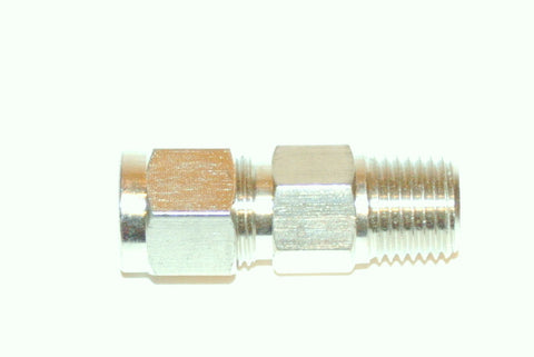 "3/8"" Compression x 1-4 Male NPT Adapter Nickel Plated Brass (C3X1/4""MNPT)"