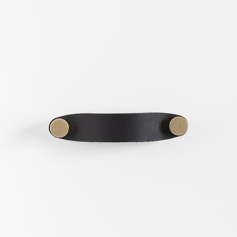 Cassidy Leather Handle - Brass + Black