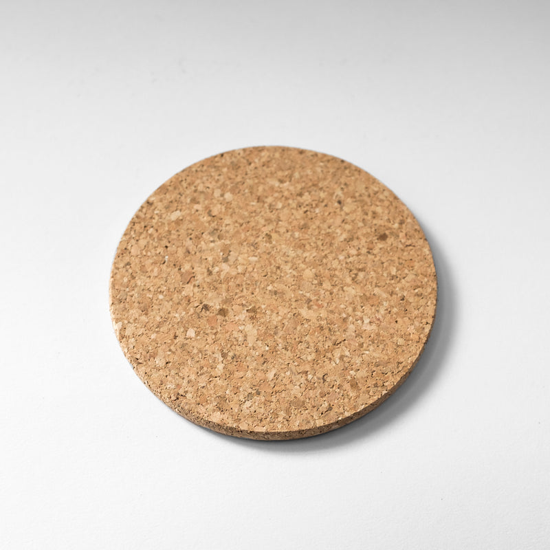Simple Round Cork Coaster