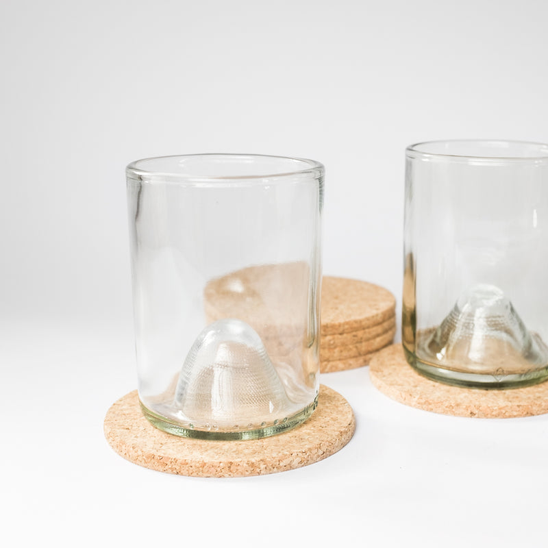 Cork Coasters with Drinking Glasses