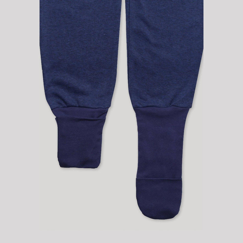 Adaptive Front Zip Navy Convert-a-Foot Sleeper - Snugabye Canada