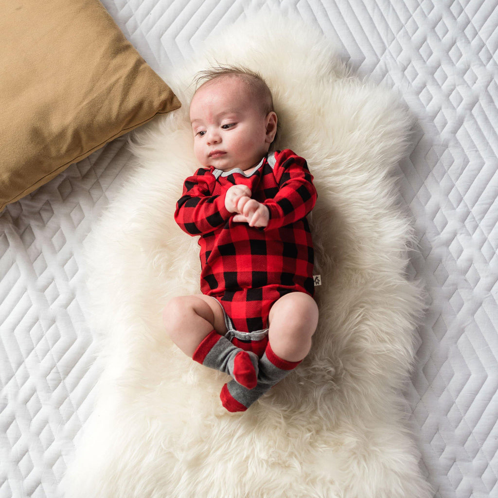 Buffalo Plaid Long Sleeve Bodysuit - Snugabye Canada