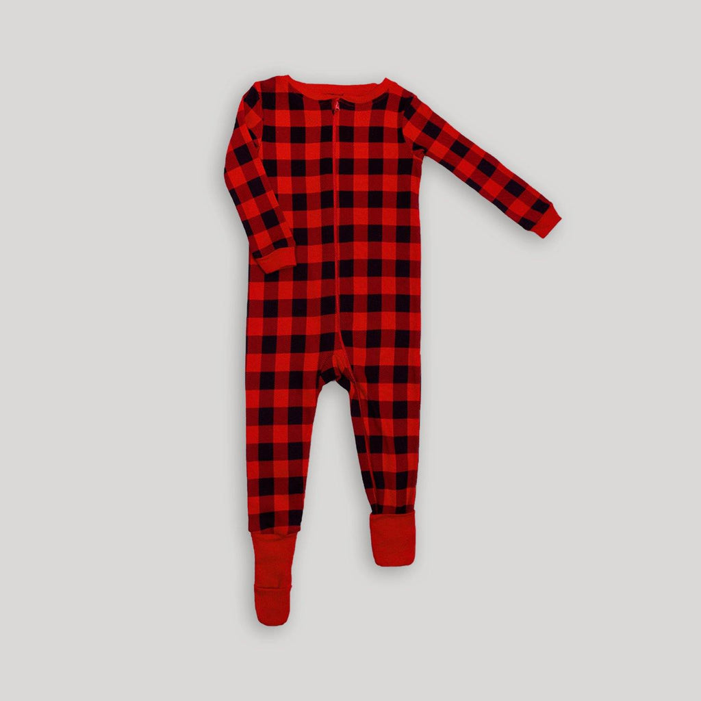 Buffalo Plaid Convert-A-Foot Sleeper - Snugabye Canada