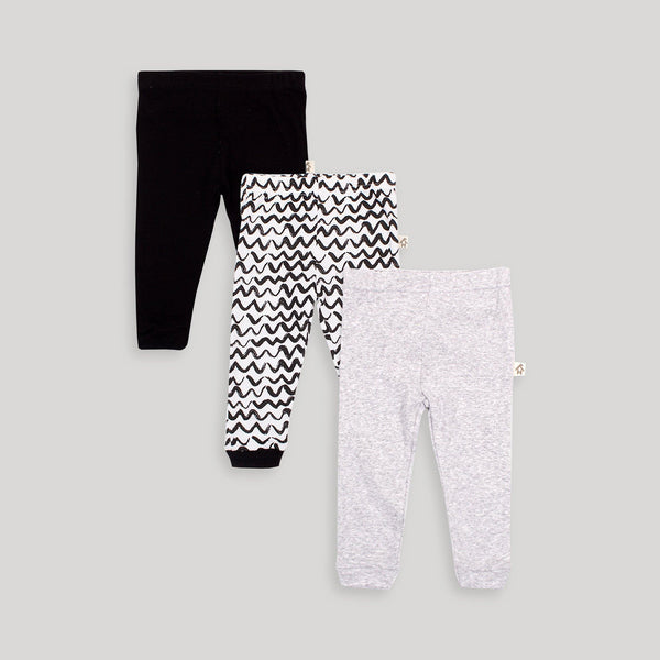 Black & White 3 Pack Assorted Pant - Snugabye Canada