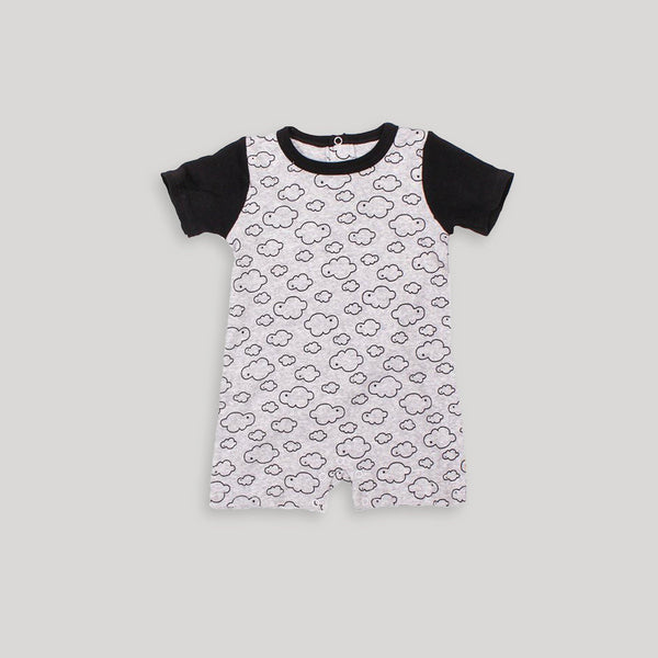 Black & White Cloud Romper - Snugabye Canada