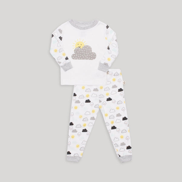 Black & White Cloud 2 Piece PJ set - Snugabye Canada